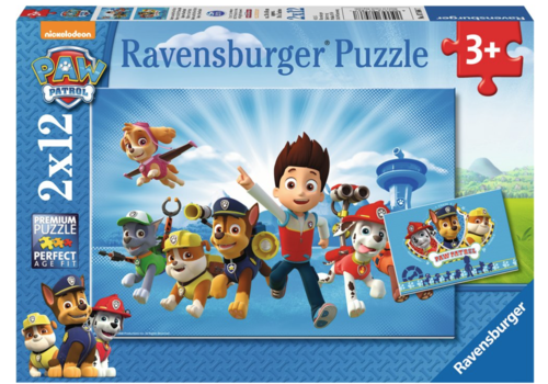 Paw Patrol together with Ryder - 2 x 12 pieces