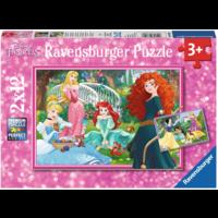 thumb-Disney prinsessen - 2 puzzels van 12 stukjes-1