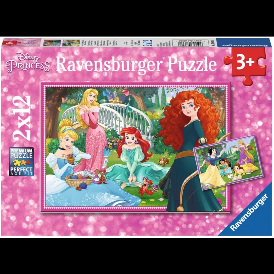 Disney princesses - 2 puzzles of 12 pieces-1