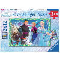 thumb-Frozen  - 2 puzzles de 12 pièces-1
