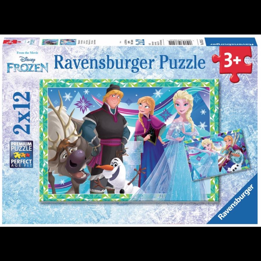 Frozen  - 2 puzzles de 12 pièces-1