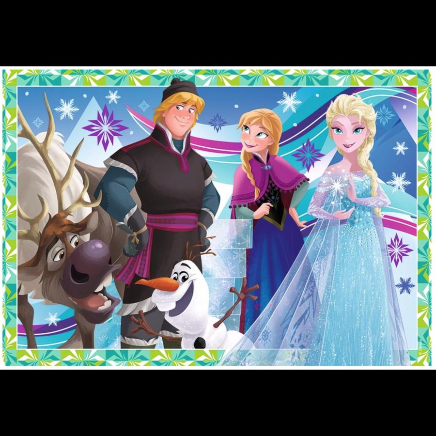 Frozen - 2 puzzles of 12 pieces-3