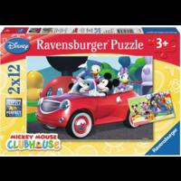 thumb-Mickey Mouse - 2 puzzels van 12 stukjes-1