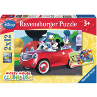 thumb-Mickey Mouse - 2 puzzles of 12 pieces-1