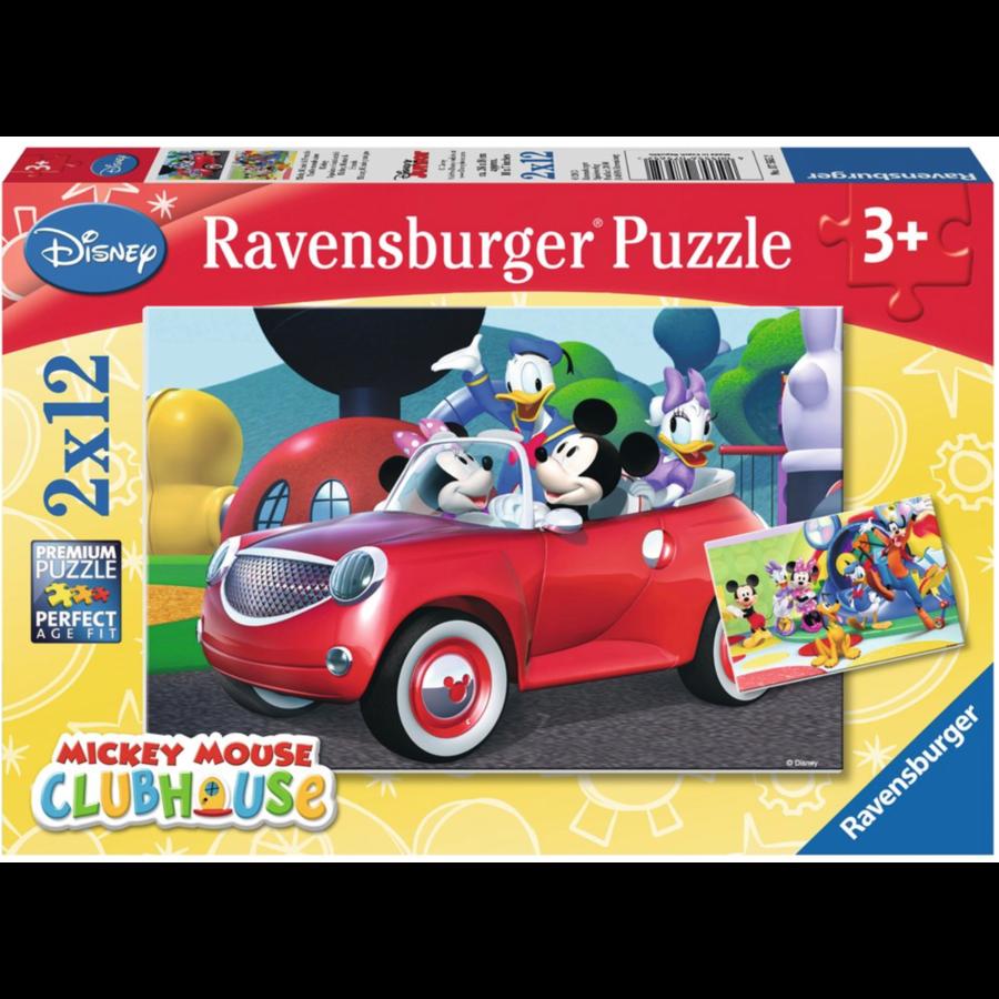 Mickey Mouse - 2 puzzels van 12 stukjes-1