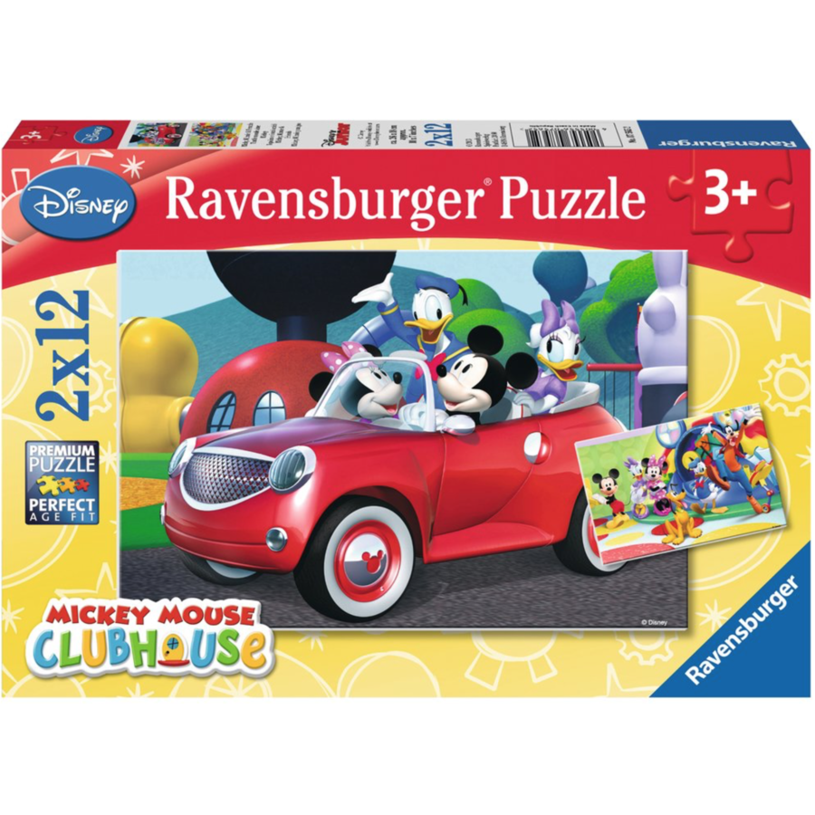 Mickey Mouse - 2 puzzles of 12 pieces-1