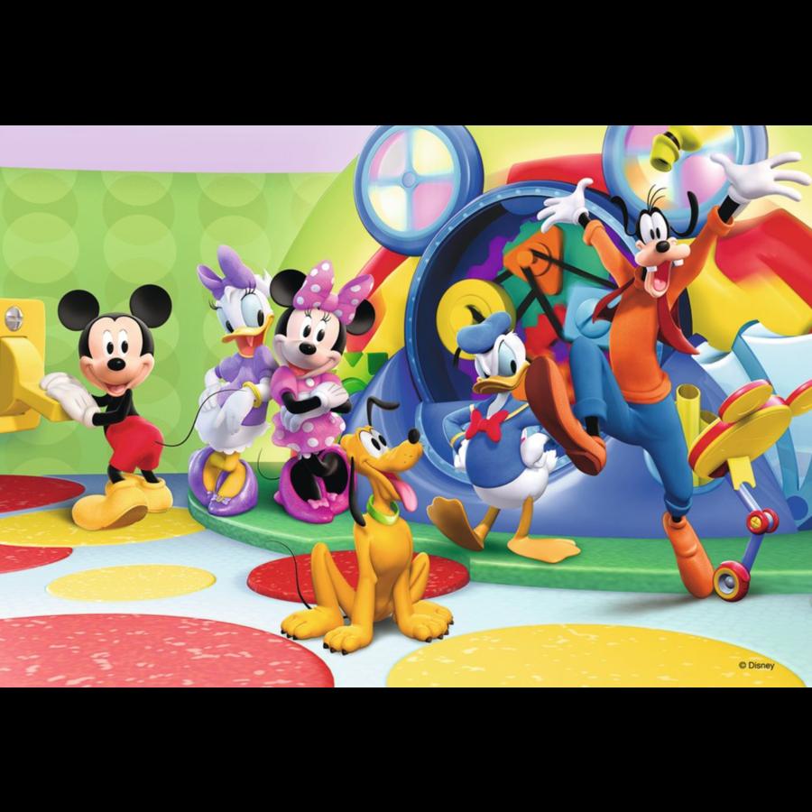 Mickey Mouse - 2 puzzels van 12 stukjes-2
