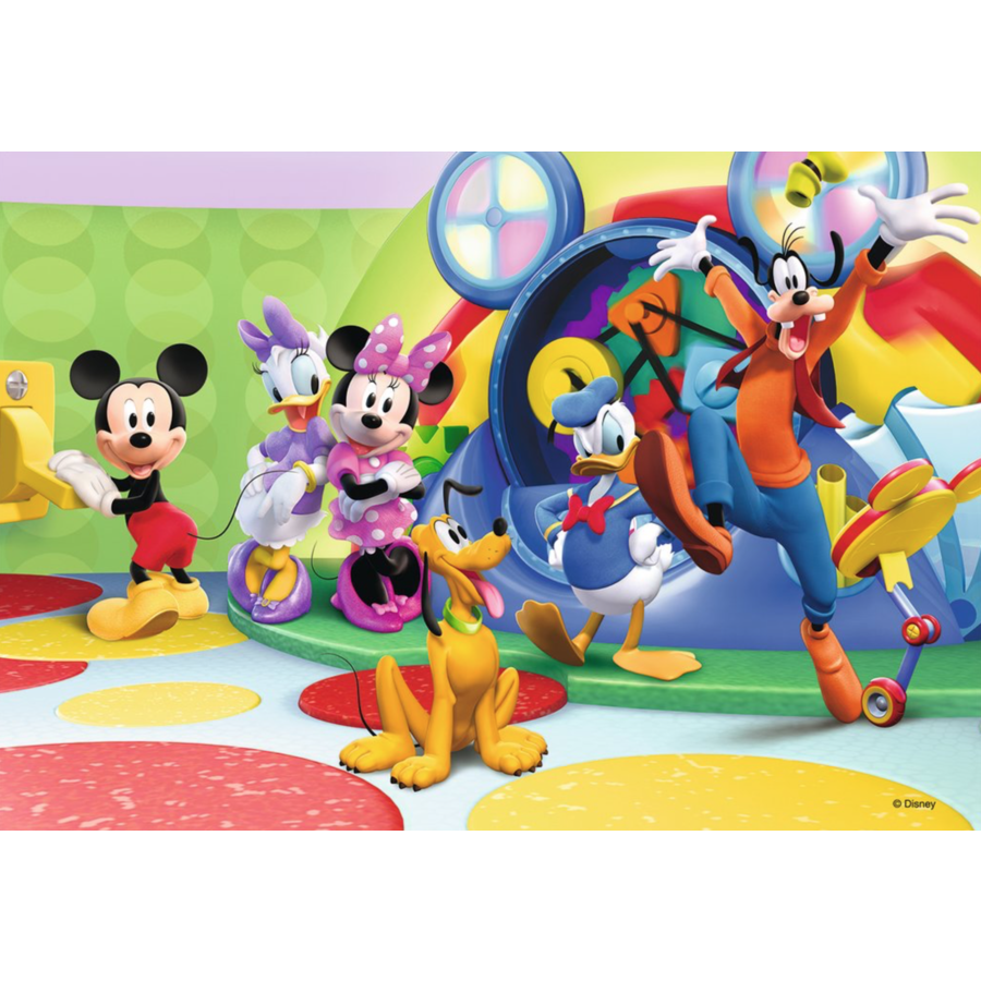 Mickey Mouse - 2 puzzles of 12 pieces-2