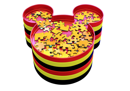 'Sorteer je puzzel' - Mickey Mouse - bakjes - 6 stuks