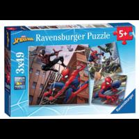 thumb-Spiderman  - 3 puzzels van 49 stukjes-1