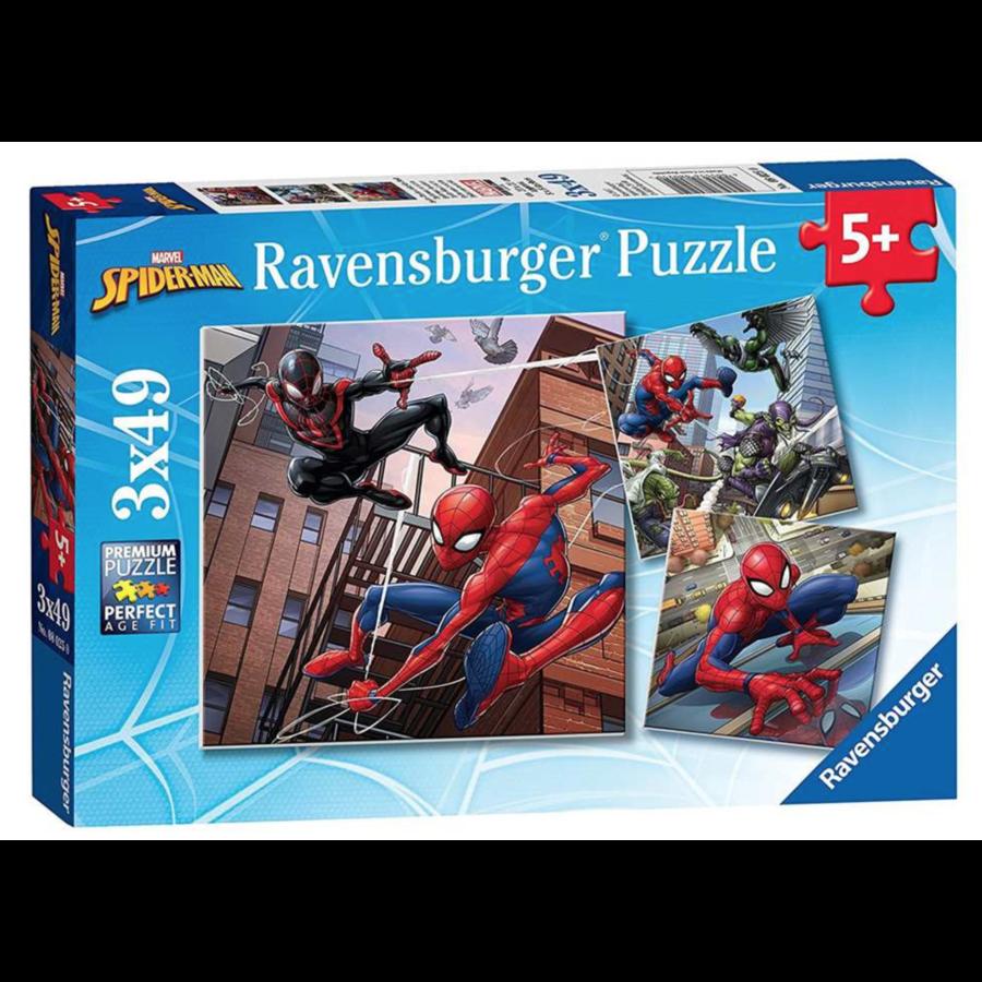 Spiderman  - 3 puzzels van 49 stukjes-1