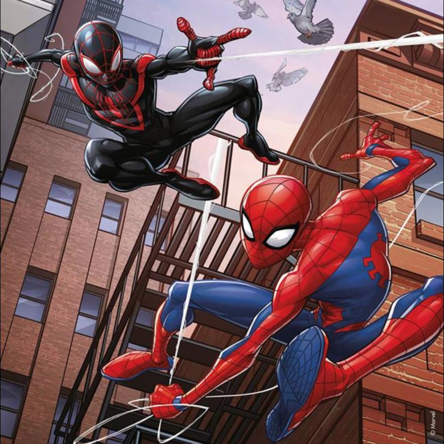 Spiderman  - 3 puzzels van 49 stukjes-2