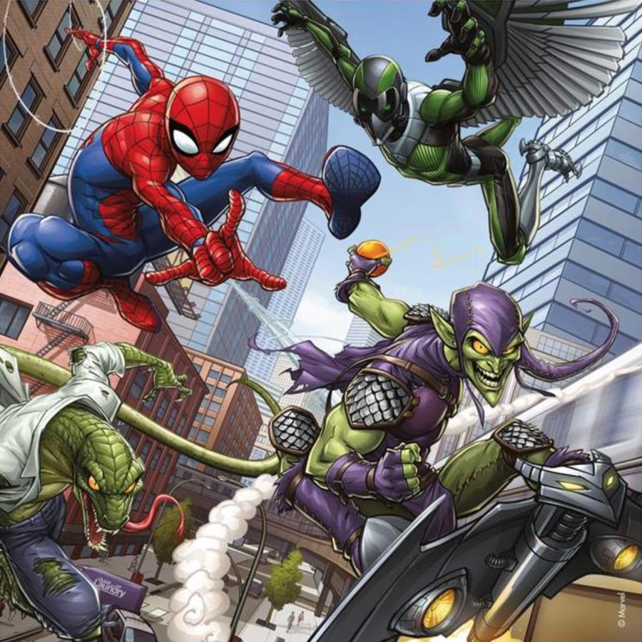 Spiderman  - 3 puzzels van 49 stukjes-3