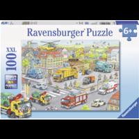 thumb-Voertuigen in de stad  - puzzel van 100 stukjes-1