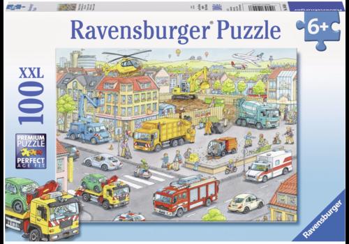Ravensburger Voertuigen in de stad -  100 stukjes
