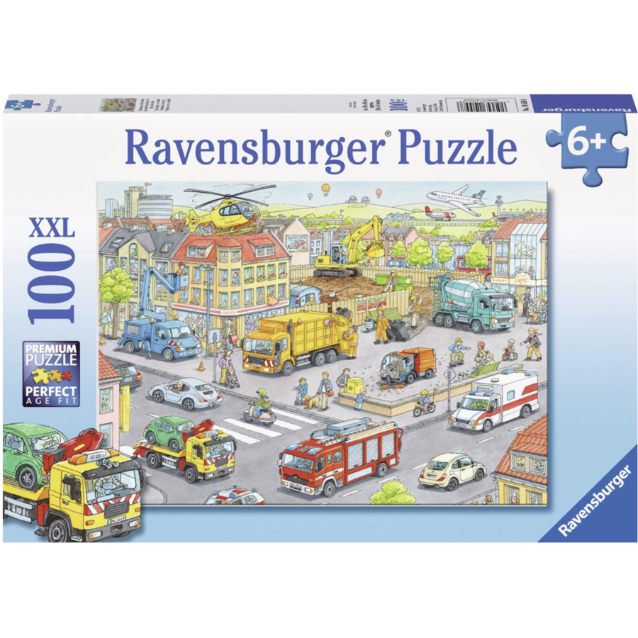 Vehicles in the city  -  puzzle of 100 pieces-1