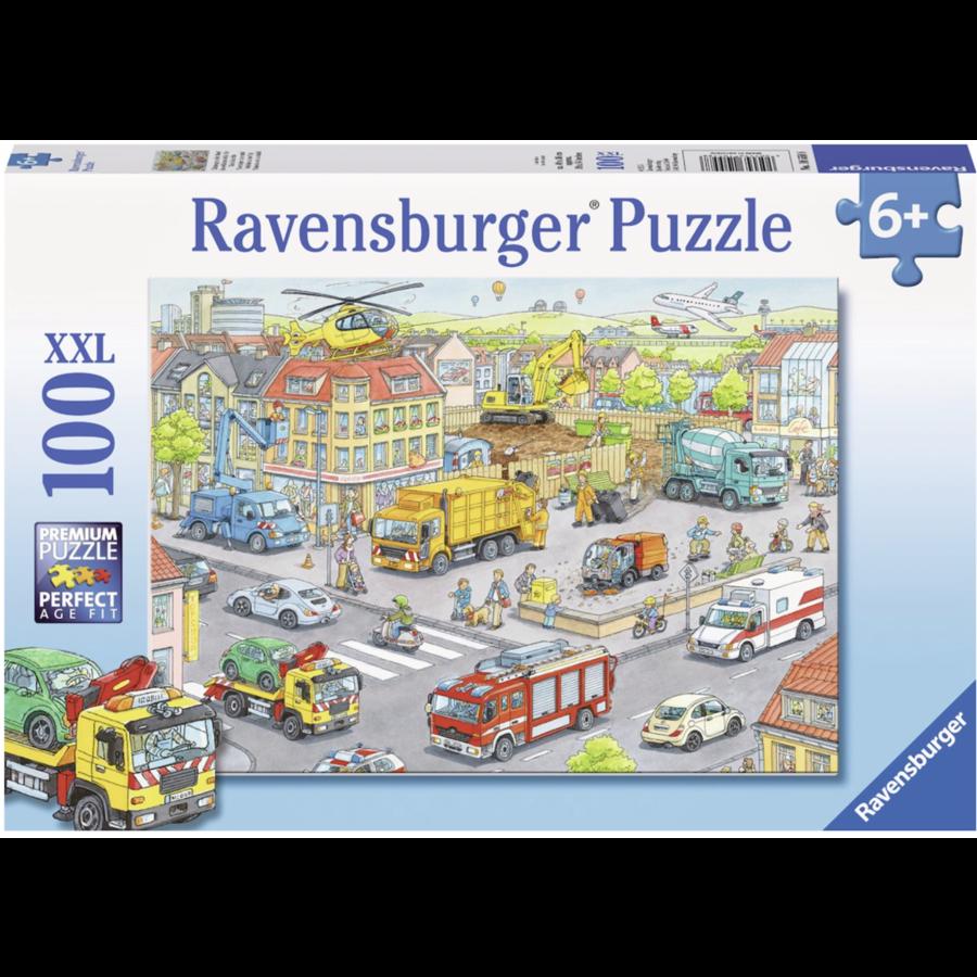 Voertuigen in de stad  - puzzel van 100 stukjes-1
