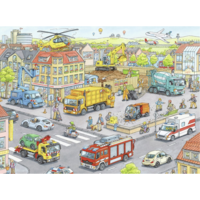 thumb-Vehicles in the city  -  puzzle of 100 pieces-2