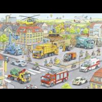 thumb-Voertuigen in de stad  - puzzel van 100 stukjes-2