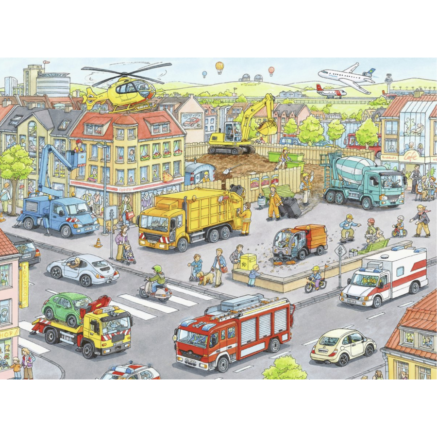 Vehicles in the city  -  puzzle of 100 pieces-2