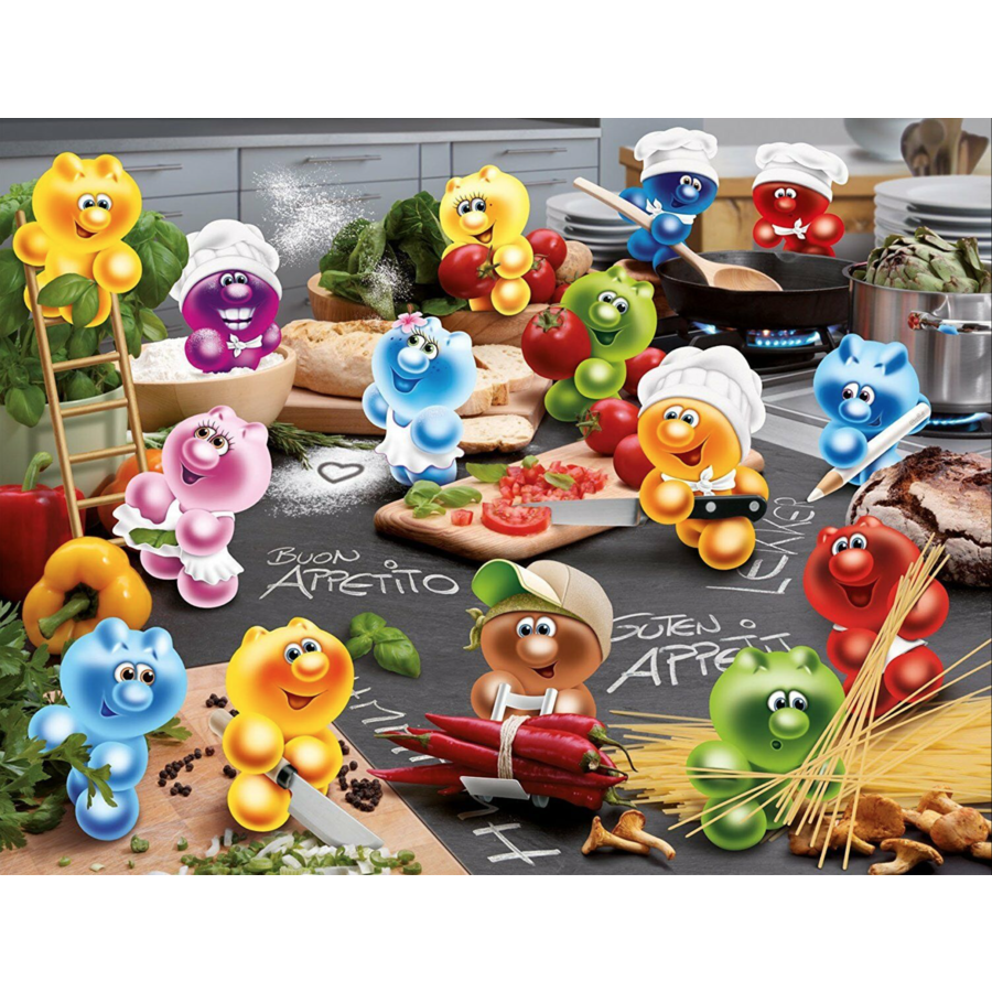 Gelini - Cooking with passion  - puzzle of 2000 pieces - Exclusive offer-1