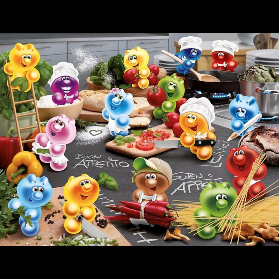 Gelini - Koken met passie  - puzzel van 2000 stukjes  - Exclusiviteit-1