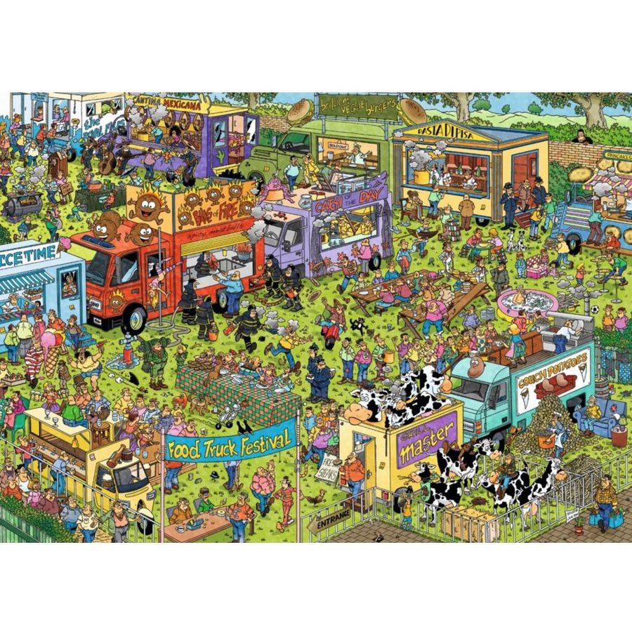 Food Festival - JvH - 2 puzzels van 1000 stukjes-2