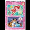 Educa Disney prinsessen - Ariël en Jasmine - 2 x 48 stukjes