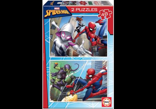 Educa Spiderman - 2 x 48 stukjes