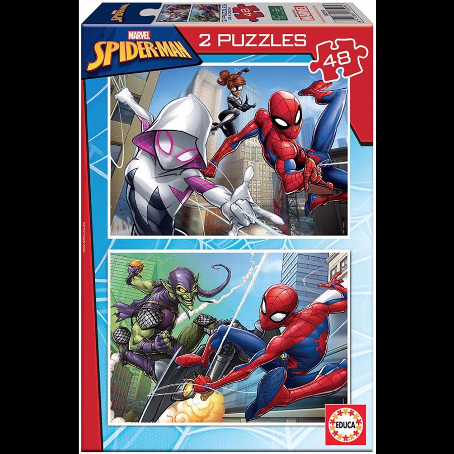 Spiderman - 2 x 48 stukjes-1
