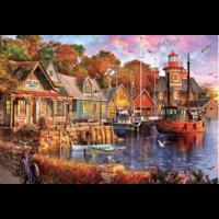 thumb-Zonsondergang aan de haven - puzzel van 5000 stukjes-1