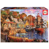 thumb-The harbour evening  - jigsaw puzzle of 5000 pieces-2