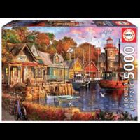 thumb-Zonsondergang aan de haven - puzzel van 5000 stukjes-2
