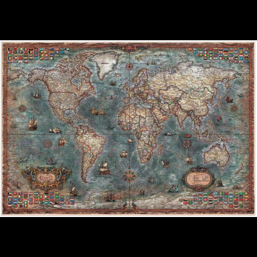 Historische wereldkaart - puzzel van 8000 stukjes-2