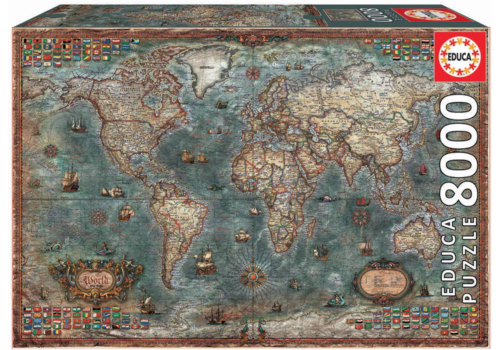 Historical World Map - 8000 pieces