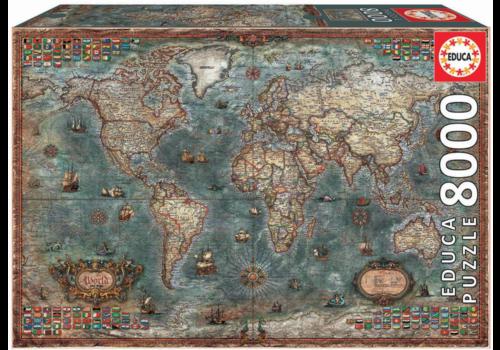 Historische wereldkaart - 8000 stukjes