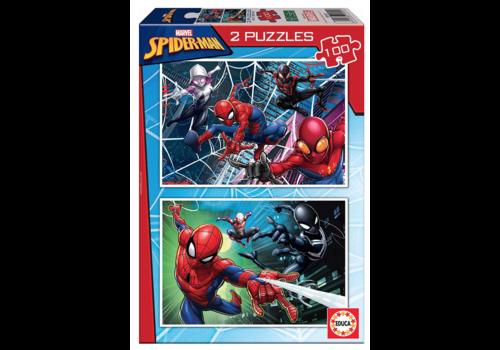 Spiderman - 2 x 100 stukjes