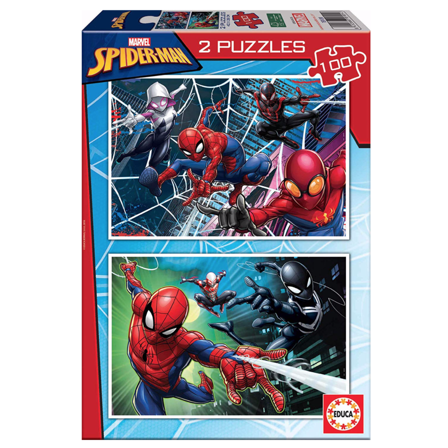 Spiderman  - 2 puzzels van 100 stukjes-1