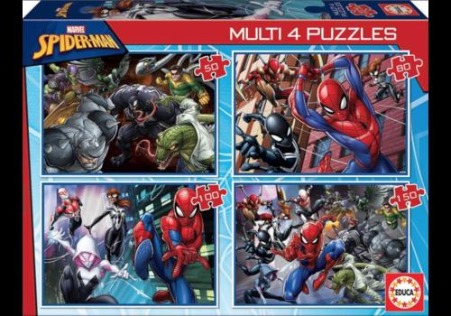 Spiderman - 4 puzzels van 50 / 80 / 100 / 150 stukjes