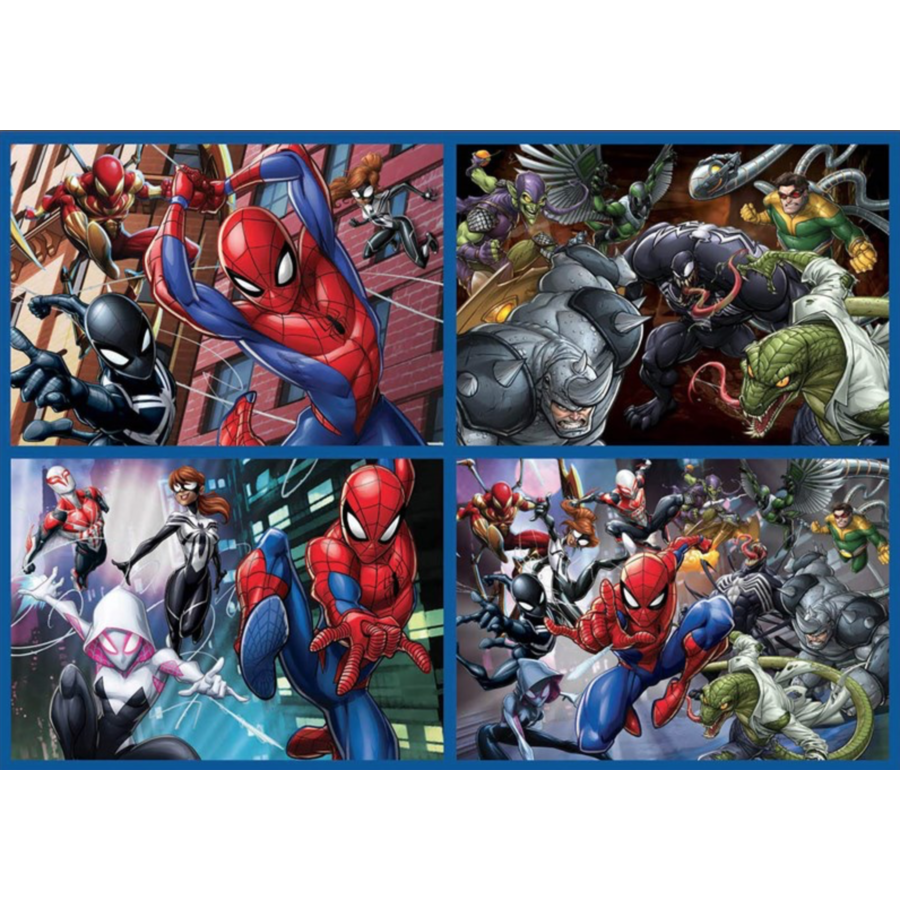 Spiderman - 4 puzzles of 50 / 80 / 100 / 150 pieces-2