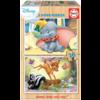 Educa HOUT:  Dumbo en Bambi - 2 puzzels x 16 stukjes