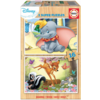 Educa WOOD: Dumbo and Bambi - 2 puzzles x 16 pieces