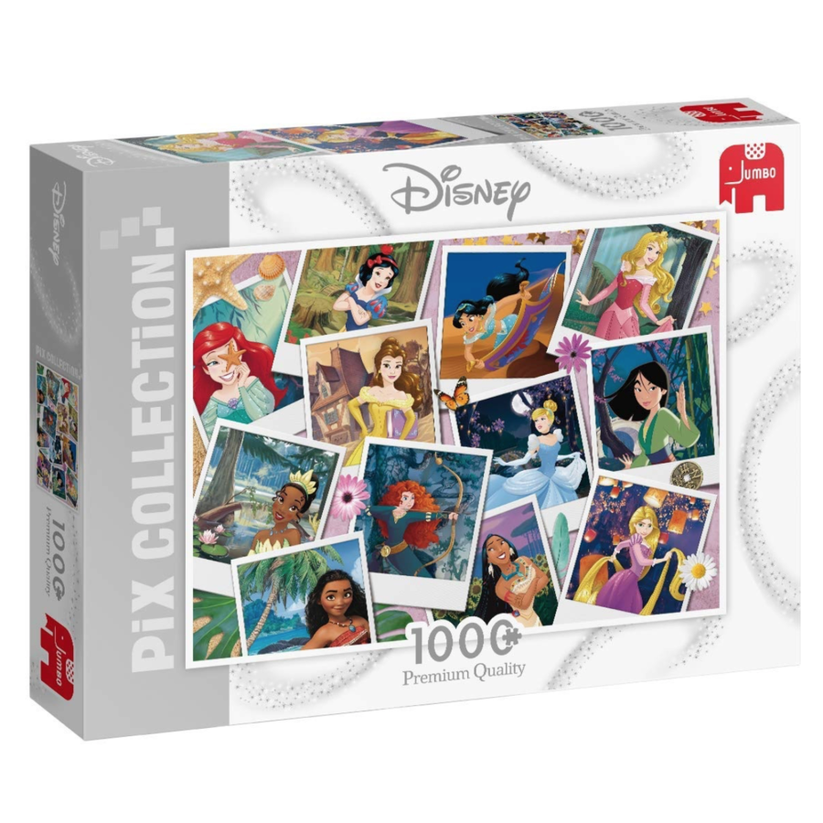 Disney collage princesses - jigsaw puzzle of 1000 pieces-1