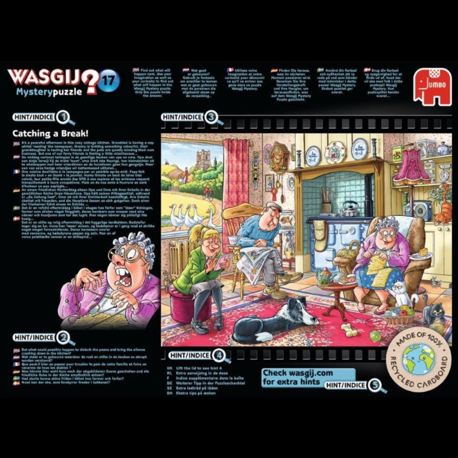 Wasgij Mystery 17 - Catching a Break! - 1000 pieces-2