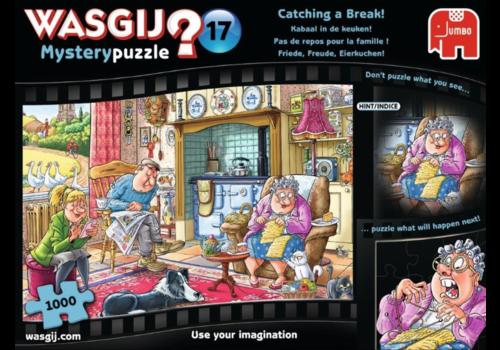 Jumbo Wasgij Mystery 17 - Pas de repos pour la famille! - 1000 pièces
