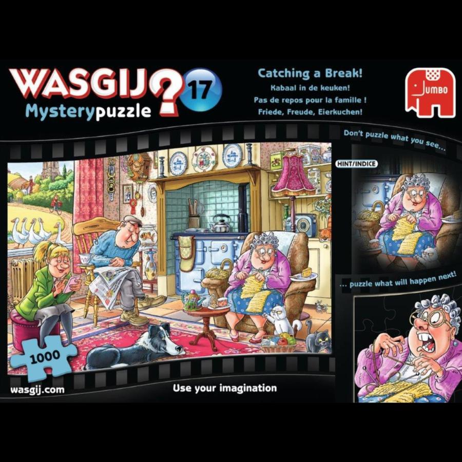 Wasgij Mystery 17 - Catching a Break! - 1000 pieces-1