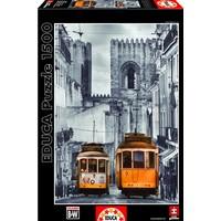 thumb-De tram in Lissabon - puzzel van 1500 stukjes-2