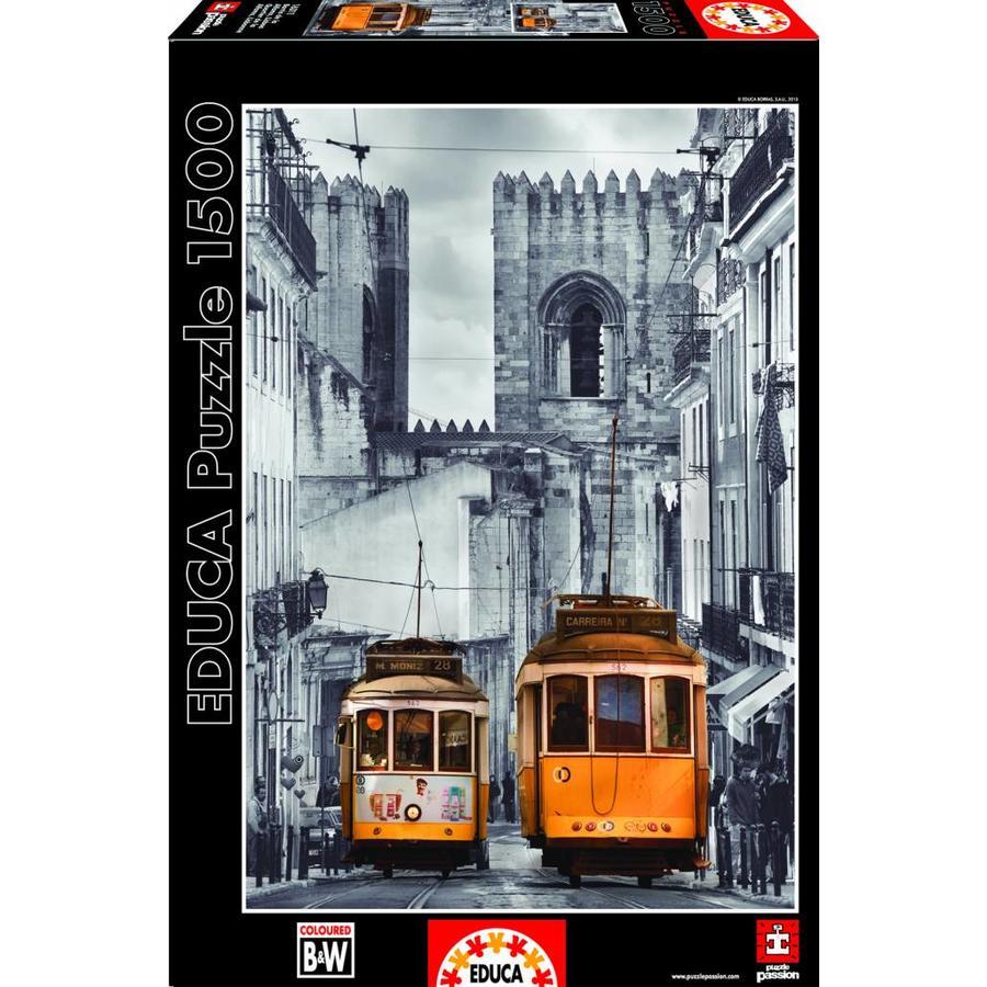 De tram in Lissabon - puzzel van 1500 stukjes-2