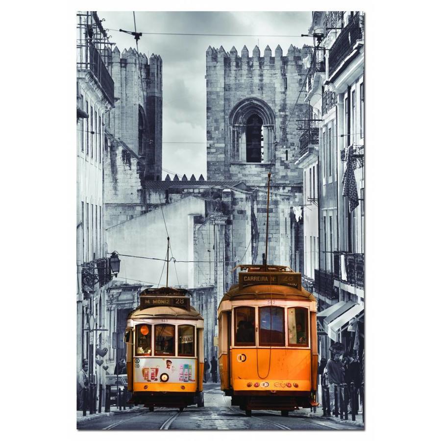 De tram in Lissabon - puzzel van 1500 stukjes-1