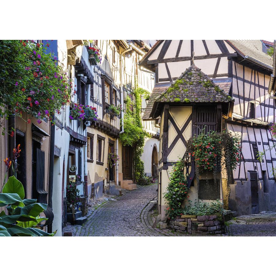 Het Franse dorp Eguisheim in de Elzas - puzzel van  1000 stukjes-1